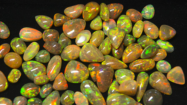 Ethiopian opal from Agere Treasures.