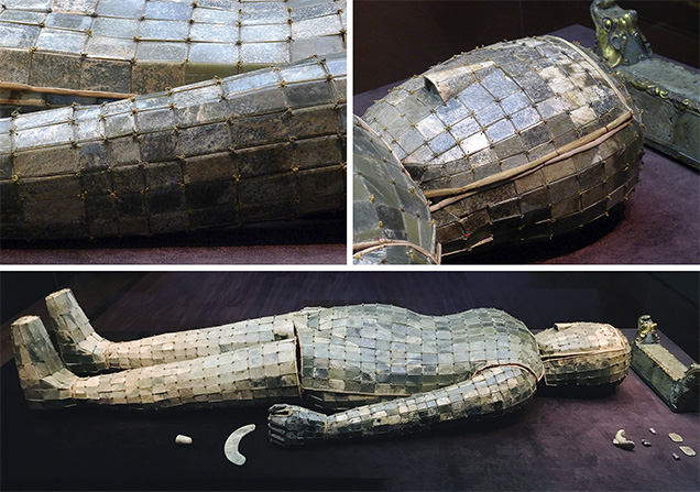 Burial suit composed of 2,498 jade tablets sewn together with gold wire.