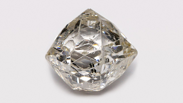 Diamond faceted in the briolette style.