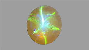 Opal with six-rayed star