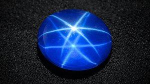 This specimen was revealed to be a synthetic star sapphire.