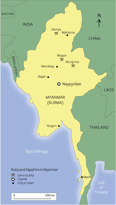 Mining areas in northern Myanmar.