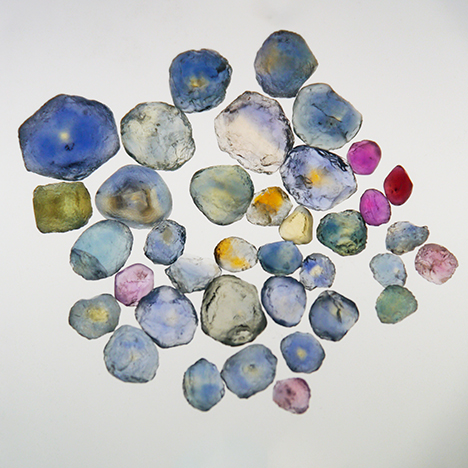 Rock Creek sapphire rough