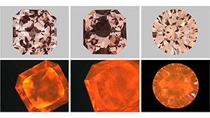 LPHT-annealed CVD synthetics with their DiamondView images