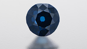 The examined Fancy Intense blue diamond