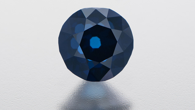 The examined Fancy Intense blue diamond