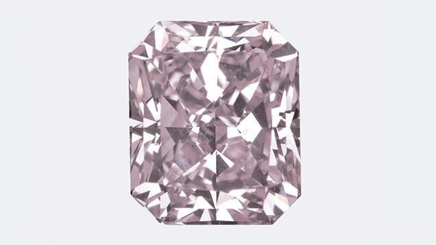 Fancy gray-purple type IIb diamond seen in the Carlsbad lab