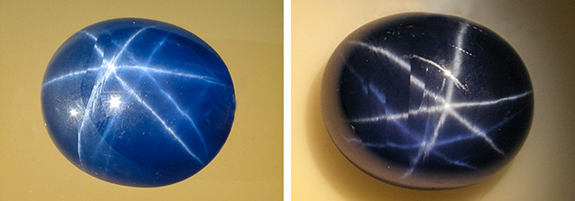 Large diffusion-treated double-star sapphire grown by the Verneuil method