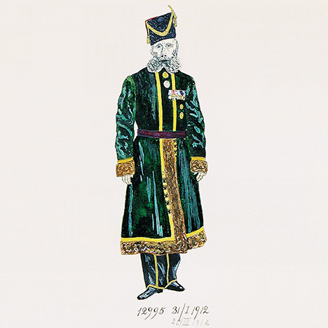 Fabergé production sketch of Pustynnikov