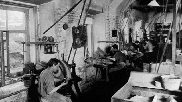 Karl Wörffel's bronze and lapidary workshop