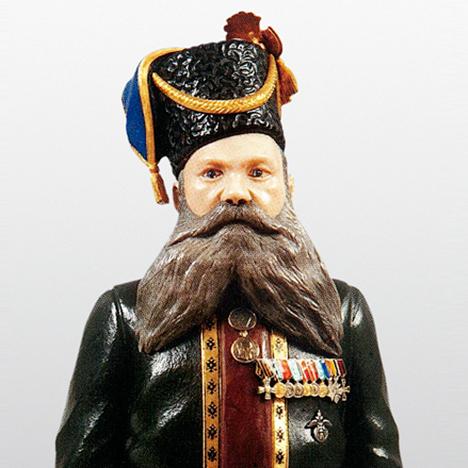 Kudinov(库迪诺夫)的法贝热玉石人像
