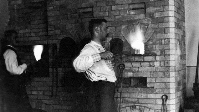 Fabergé's enamel firing furnace