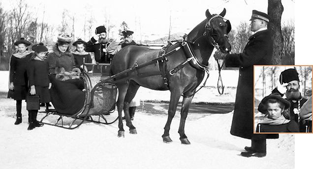 N.N. Pustynnikov escorts Empress Alexandra