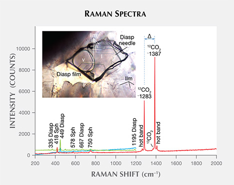 Raman spectra of FI at room temperature.