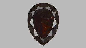 Fancy black pear-shaped diamond.