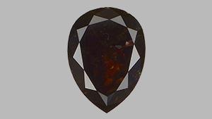 Fancy black pear-shaped diamond.