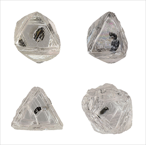Dark inclusions in Diavik diamonds