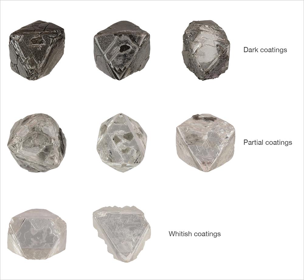 Fibrous coatings on Diavik diamonds