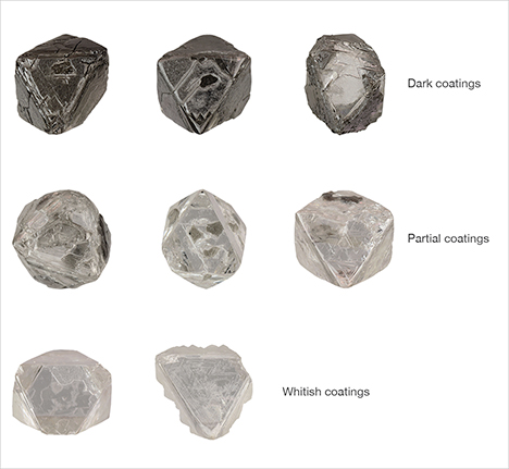 Fibrous coatings on Diavik diamonds