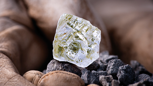 Diavik Foxfire rough diamond