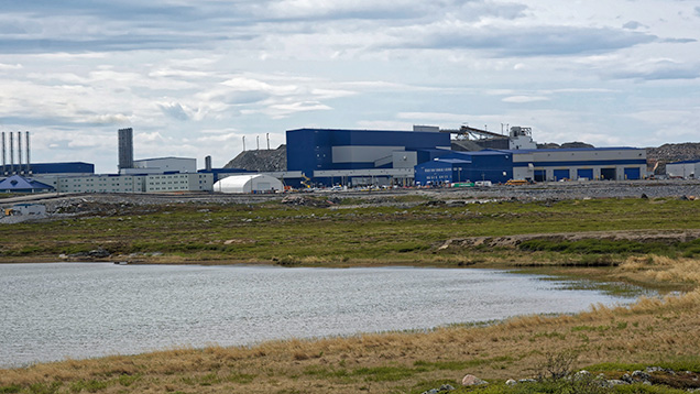 Building complex at Diavik