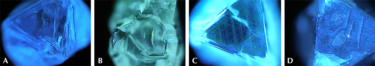 DiamondView images of Diavik diamonds