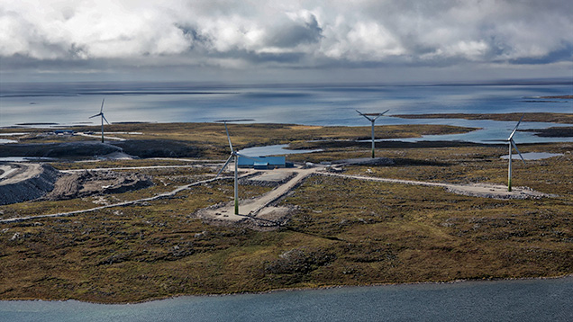 Wind farm at Diavik