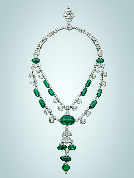 Maharaja of Indore emerald necklace