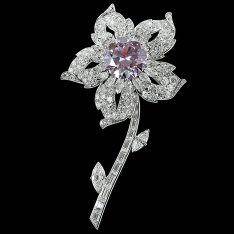Williamson Pink diamond brooch belonging to Queen Elizabeth II.