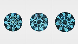 Irradiated CVD synthetic diamonds.