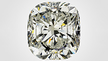 This 15.32 ct cushion modified brilliant is the largest HPHT synthetic diamond graded by GIA.