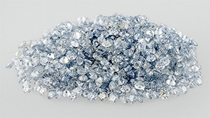 Within a parcel of 1,102 diamond melee, 1,092 were identified as HPHT synthetics.