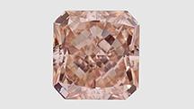 5.01 ct pinkish orange CVD synthetic diamond