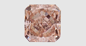 5.01 ct pinkish orange CVD synthetic diamond