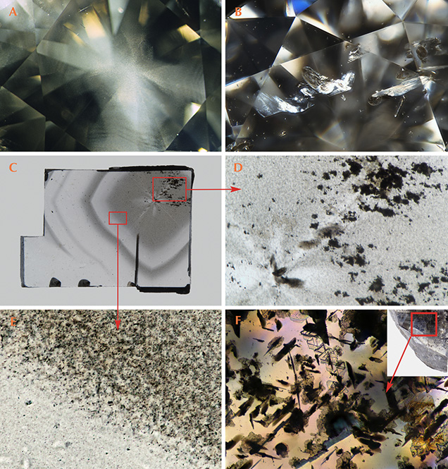 Cloud-like micro-inclusions producing gray color in diamonds