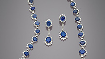 Suite containing over 36 carats of Yogo sapphire