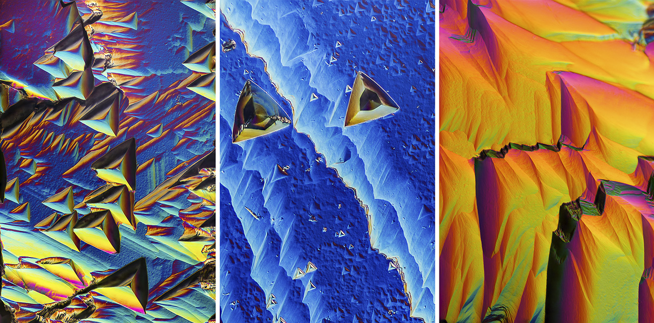 Surfaces of Yogo sapphires seen using differential interference contrast microscopy