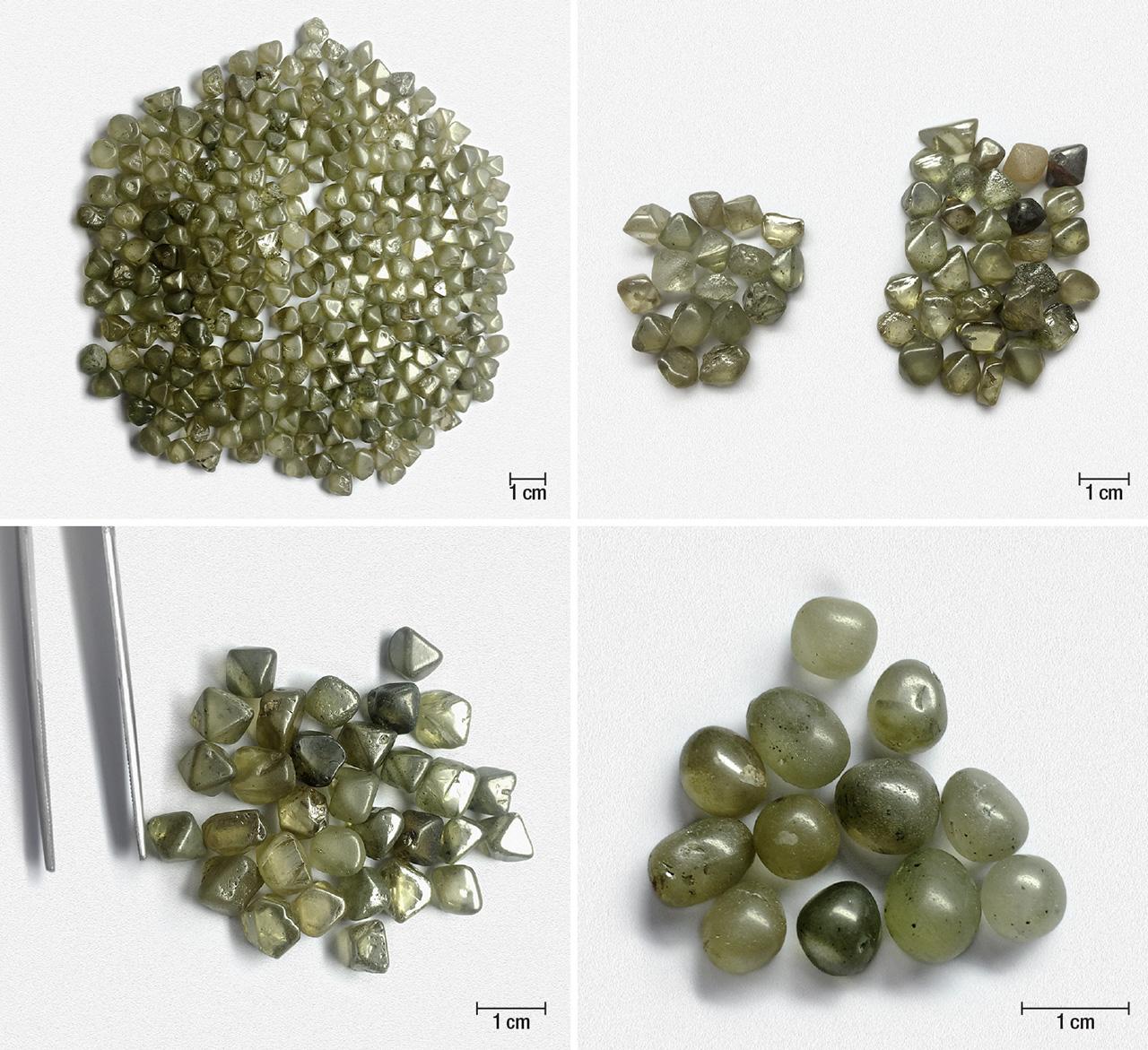 Rough diamonds from the Marange deposit in eastern Zimbabwe