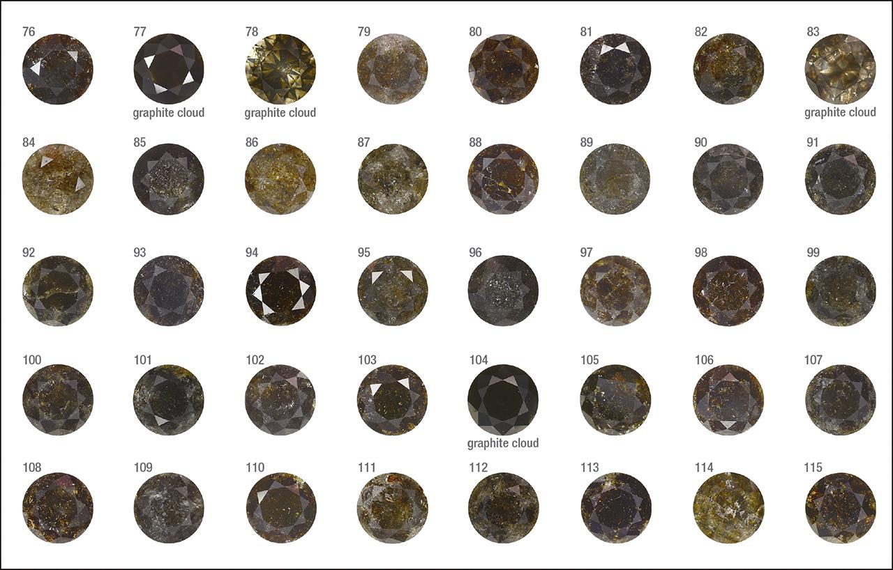 Fancy Dark brown to Fancy black Marange diamonds