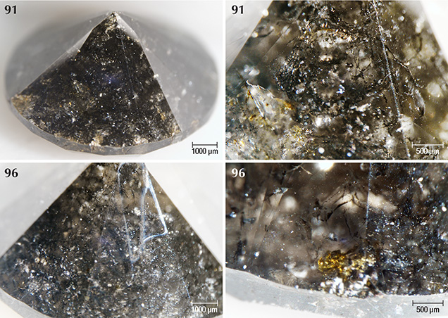 Black graphitic needles in Marange diamonds