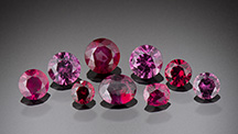 Rubies from Rock Creek, Montana.