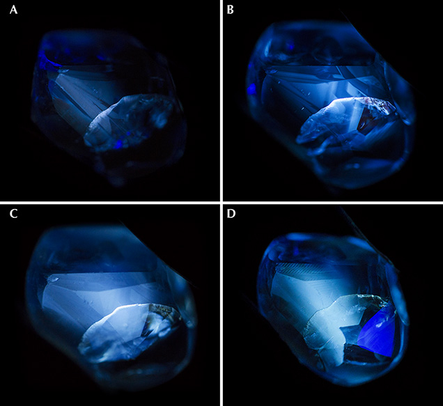 Fluorescence reaction of a Madagascar sapphire during heating