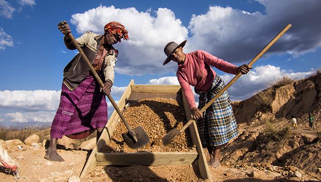Sapphire Miners Near Ilakaka, Madagascar