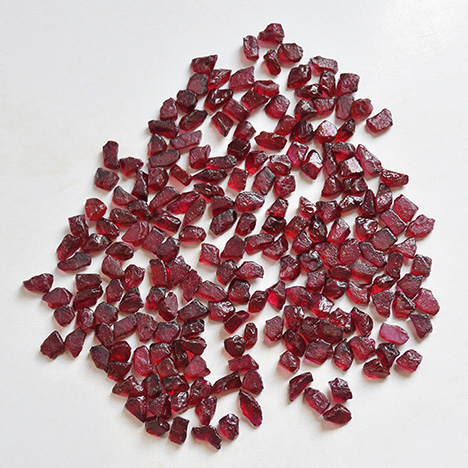 Fine Mugloto-type rubies from Mozambique