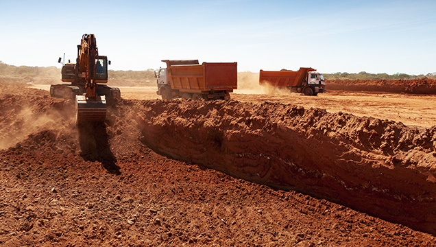 Large-scale mining in the Mugloto area of Mozambique