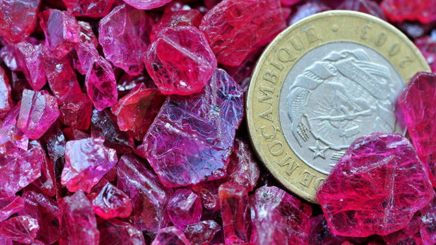 Typical Maninge Nice–type rubies from Mozambique
