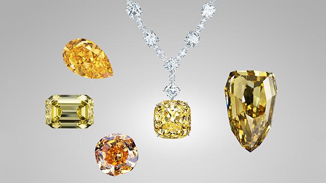 Famous yellow and orange diamonds