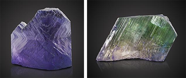 Large rough spodumene crystal exhibiting pleochroism.