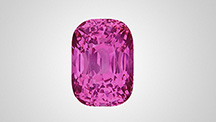 Pink sapphire from Mozambique.