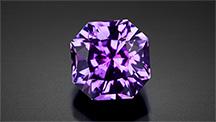Notable large, unheated purple Montana sapphire.